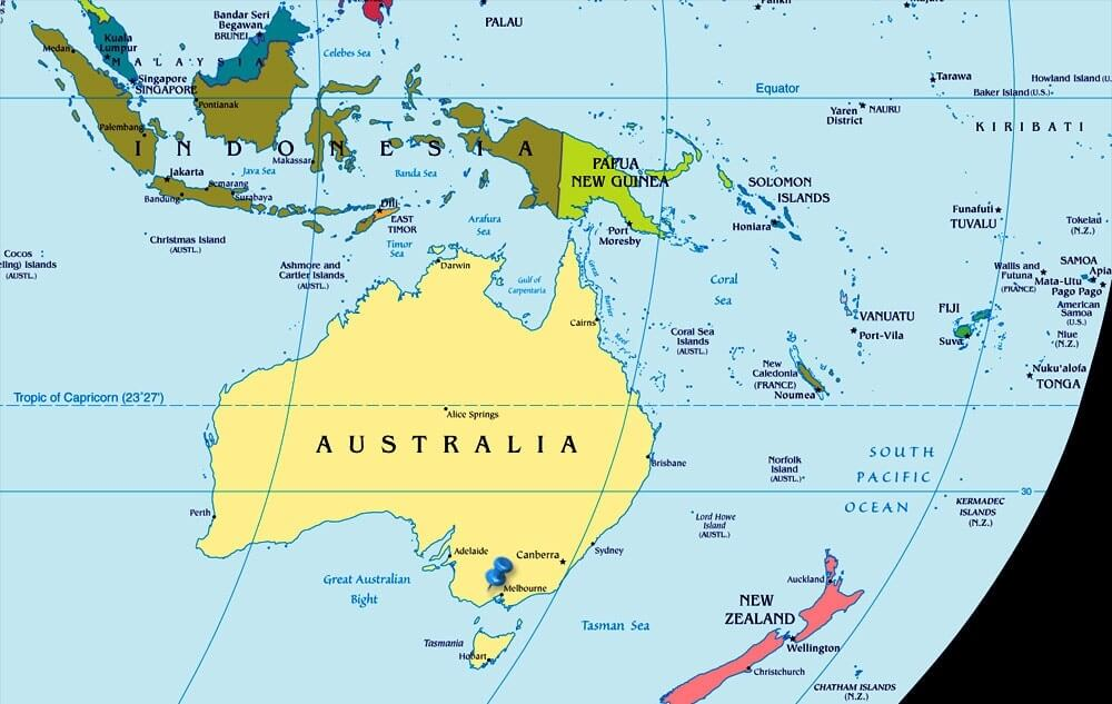 الولايات الاسترالية وأهم المدن الكبرى في استراليا