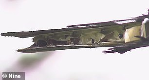 وألحقت إحدى مروحيات بلاك هوك أضرارا بشفرتها بعد اصطدامها بالسفينة