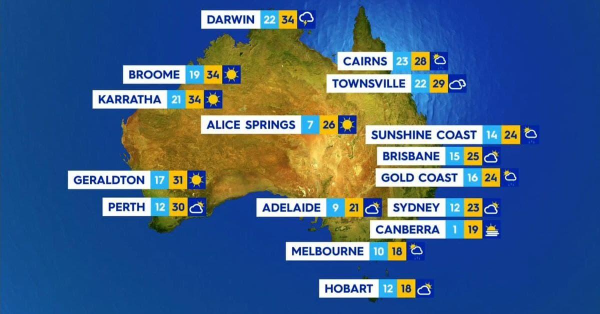 عواصف كبيرة محملة بالأمطار الغزيرة في شمال استراليا