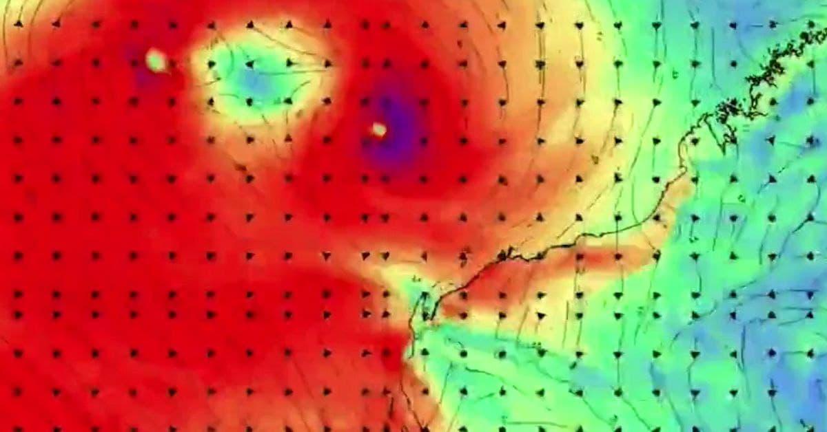 في ظاهرة نادرة..تعرض ساحل غرب أستراليا لإعصار ومنخفض استوائي في وقت واحد