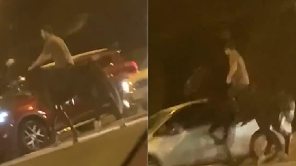 حدث غريب: رجل يمتطي حصان ويصطدم مع سيارة في شوارع سيدني
