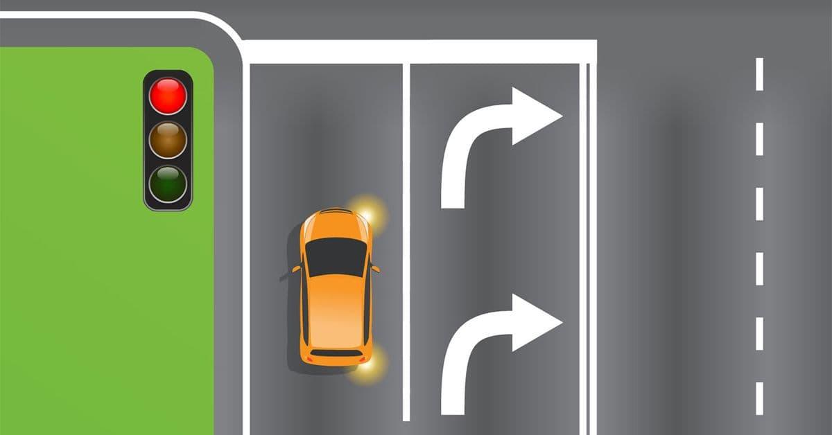 وزارة النقل عبر موقعها الرسمي: هل يمكن لصاحب السيارة البرتقالية أن ينعطف يميناً؟